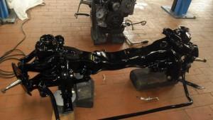 Restauration Vorderachse Mercedes Pagode 230 SL
